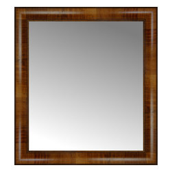"""Posters 2 Prints, LLC - 20"""" x 22"""" Belmont Light Brown Custom Framed Mirror - 20"""" x 22"""" Custom Framed Mirror made by Posters 2 Prints. Standard glass with unrivaled selection of crafted mirror frames.  Protected with category II safety backing to keep glass fragments together should the mirror be accidentally broken.  Safe arrival guaranteed.  Made in the United States of America"""