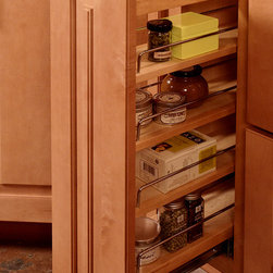 CliqStudios.com - Base Pull Out Spice Rack - Maximize storage in small spaces with CliqStudios base pull-out organizers. Available in 6-inch, 9-inch & 12-inch widths, these full extension organizers feature adjustable shelves for spice rack storage, kitchen pantry storage and custom storage solutions.