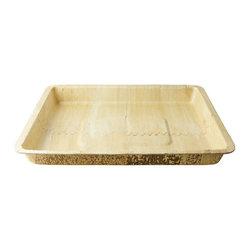 Bamboo Studio - Bamboo Studio Deep Dish Bamboo Tray - Made from 100% natural aged bamboo sheath.