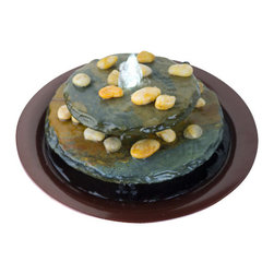 Bluworld - Tranquility Pool Tabletop Fountain - Our newest addition to the Water Wonders family is the newly re-designed Tranquility Pool. True to it's name the Tranquility Pool is elegant and serene. Water bubbles up the center of two round multi-color slate tiers then gently cascades over the slate into the Dark Copper colored bowl. The bubbling water glows white from the included LED Light adding drama and interest. This is a beautiful gift to give or receive.Tranquility Pool ships with an adjustable pump, on/off in-line rocker switch and polished river rocks