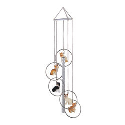 GSC - Wind Chime 5-Ring Polyresin Charm Cat Hanging Porch Garden Decoration - This gorgeous Wind Chime 5-Ring Polyresin Charm Cat Hanging Porch Garden Decoration has the finest details and highest quality you will find anywhere! Wind Chime 5-Ring Polyresin Charm Cat Hanging Porch Garden Decoration is truly remarkable.