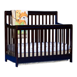 Stork Craft - Stork Craft Cadenza 4-in-1 Fixed Side Convertible Crib  in Espresso - Stork Craft - Cribs - 04567169 - Borrowing from neoclassic design the Stork Craft Cadenza 4 in 1 crib finds its grace with its elegant lines and handsome rounded rails.  Pair it with any of Stork Craft's dresser collections to complete your nursery.