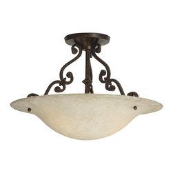 "Craftmade - Craftmade Toscana Traditional Semi Flush Mount Ceiling Light X-GA-6181X - 16"" SEMI-FLUSH"