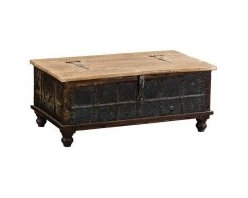 Occasional Trunk Furniture, Vintage Trunk Occasional Trunk - Make a statement with this trunk coffee table.