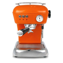 Ascaso - Ascaso Dream UP 2 Versatile Espresso Machine, Anthracite Grey, Mandarin Orange - Get your coffee jolt in more ways than one. This professional espresso machine makes all your favorite café drinks in a snap and accepts ground coffee or single-serve espresso pods. And its cute, retro shape comes in a dozen finishes, to give an extra jolt of color and style to your kitchen.
