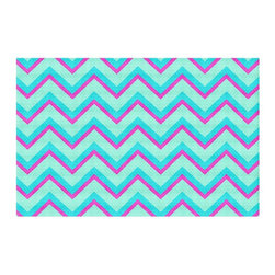 DiaNoche Designs - Area Rug by Monika Strigel - Fairy Heaven Mint II Chevron - Finish off your bedroom or living space with a woven Area Rug with Chevron pattern  from DiaNoche Designs. The last true accent in your home decor that really ties the room together. Maybe its a subtle rug for your entry way, or a conversation piece in your living area, your floor art will continue to dazzle for many years. 1/4 thick. Each rug is machine loomed, washed and pre-shrunk, printed, then hemmed on the edges.   Spot treat with warm water or professionally clean. Dye Sublimation printing adheres the ink to the material for long life and durability