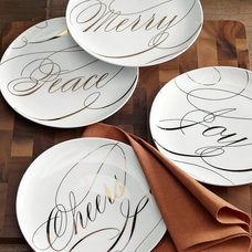 modern plates by West Elm