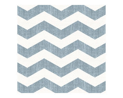 Aqua & White Chevron Linen Fabric - Graphic chevron in a washed aqua blue & ivory on lightweight linen adds a punch of color to the contemporary home.Recover your chair. Upholster a wall. Create a framed piece of art. Sew your own home accent. Whatever your decorating project, Loom's gorgeous, designer fabrics by the yard are up to the challenge!