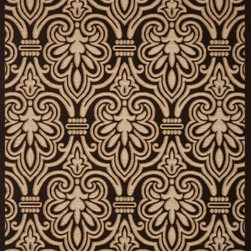 """Concord Global - Damask  Beige 6'7""""  X 9'3"""" Rectangle Woven RugMilano Collection - This collection has a broad range of contemporary to traditional patterns. Made of soft olefin and chenille yarns giving the designs a unique texture and feel. Constructed with the latest colors in fashion, Milano will fit with any d�cor in a room or an office."""