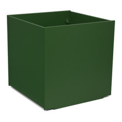 Loll Designs - Square Planter 60 Gallon, Evergreen - The Loll Flora Collection was created to work in a variety of outdoor garden settings. The recycled and recyclable poly material is made to withstand the test of time and extreme weather. In addition, the joinery on our modern containers allow for a slow, seeping drainage and holes can easily be drilled in the bottom if desired. All pieces are flat-packed with simple, fun, and intuitive assembly.