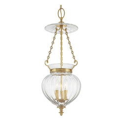 Hudson Valley Lighting - Hudson Valley Lighting 783-AGB Pendant Light in Aged Brass - Hudson Valley Lighting 783-AGB Gardner Collection Traditional Pendant Light in Aged Brass