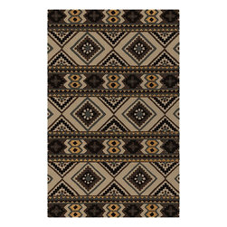 Surya - Surya Southwestern/Lodge Albuquerque Sand  Black 2'x3' Rectangle Area Rug - Southwestern style is reinterpreted in the Albuquerque Collection. Plush hand-tufted wool and sophisticated colors brings a softer take to this classic American style. At home in a ranch house in Texas or a cottage in Maine  Albuquerque brings a versatility to the popular aesthetic.