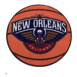 Fanmats - NBA New Orleans Pelicans Rug Basketball Shaped Mat - FEATURES: