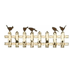 """Benzara - Wooden and Metal Multipurpose Eight Wall Hooks in Beige and Brown - Wooden and Metal Multipurpose Eight Wall Hooks in Beige and Brown. Revamp the settings of your bedroom or bathroom with the wood and metal wall hook that is unique in its design and appearance. It comes with a dimension of 14""""H x 48""""W x 1""""D."""