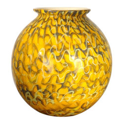 Dale Tiffany - New Dale Tiffany Vase Glass Hand-Blown Round - Product Details