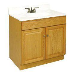 NATIONAL BRAND ALTERNATIVE - Claremont Two Doors Vanity - Features: