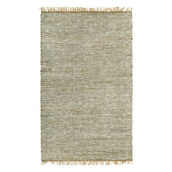 St Croix Trading - Contemporary Matador 8'x10' Rectangle White Area Rug - The Matador area rug Collection offers an affordable assortment of Contemporary stylings. Matador features a blend of natural White color. Handmade of Leather the Matador Collection is an intriguing compliment to any decor.