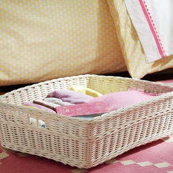 Sabrina Under Bed Rolling Basket - This basket was designed to fit under a bed and comes with wheels to make it a breeze to move — brilliant!