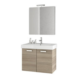 ACF - 28 Inch Larch Canapa Bathroom Vanity Set - Set Includes: Vanity Cabinet (2 Doors).