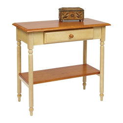 Office Star - Office Star Country Cottage Foyer Table in Antique Yellow - Office Star - Console Tables - CC07