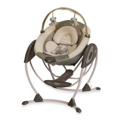 Graco - Graco Glider LX Gliding Swing in Peyton - Keep your little one calm and happy with this unique, portable gliding swing. Designed to deliver the same gentle motion you use when cuddling your little one.