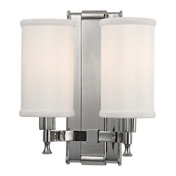 HUDSON VALLEY LIGHTING - Hudson Valley Lighting Palmdale-Wall Sconce Polished Nickel - Free Shipping