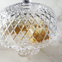"""Horchow - Muirfield Cake Plate with Dome - CLEAR - Muirfield Cake Plate with DomeDetailsMade of pressed glass.Hand wash.Two-piece set includes pedestal plate and dome.Approximately 11.75""""Dia. x 11.5""""T.Imported."""