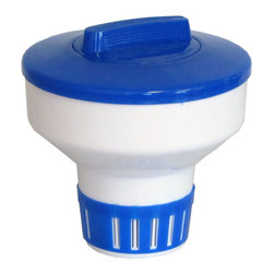 SUNSOLAR - Floating Chlorine Bromine Dispenser For Swimming Pools 7 Inch - Collapsible - Floating dispensers make pool maintenance less of a chore. This dispenser works great with 3 inch or 1 inch chlorine and bromine tabs or sticks. Adjustable ring lets you regulate the amount of chlorine dispensed in your pool. As an added benefit, with a turn this dispenser will fold in to save space in storage. Made of heavy duty resin