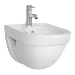 Vitra - Modern Round White Ceramic Bathroom Bidet - Imported from Turkey by Vitra, this upscale bidet is great for contemporary bathrooms.