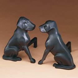 Black Lab Andirons - Now these are unique! For all you black lab fans out there, this is a must-have pair. They're conversation pieces for sure.
