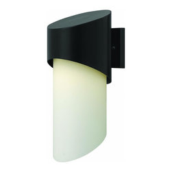 Hinkley - Hinkley Solo One Light Satin Black Outdoor Wall Light - 2064SK-GU24 - This One Light Outdoor Wall Light is part of the Solo Collection and has a Satin Black Finish. It is Outdoor Capable.