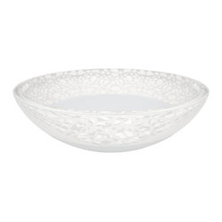 "Maestrobath - Atelier Flare Contemporary Bathroom Sink, Mat - This crystal wash basin is perfected by the ""Florence Glass Atelier"" project which allows for colors and textures to be embedded within the crystal, making it sturdy, hygienic and of course, fashionably beautiful. This luxury vessel sink is in the shape of a circular bowl and comes in mat, light and dark shades with its unique pattern concentrated around the rim. The top rated bathroom sink will look brilliant on top of your bathroom counter."