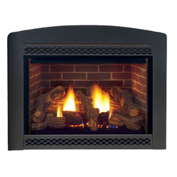 Majestic Products - Majestic 500DVMNSC Cameo Direct Vent Gas Fireplace - The Majestic 500DVMNSC cameo direct vent gas fireplace is part of Majestic's full line of products to complete your fireplace or stove. The 500DVMNSC model from Majestic's Cameo series gives you a natural flame burner system with aluminized pan burner, along with a beautiful flame and wide-open design for a spacious viewing area. This model features natural gas operation for easy installation, and it heats up to 1,500 square feet of room.