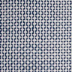 Hook & Loom Rug Company - Peru Denim/White Rug Swatch - Very eco-friendly rug, hand-woven with yarns spun from 100% recycled fiber.  Color comes from the original textiles, so no dyes are used in the making of this rug.  Made in India.