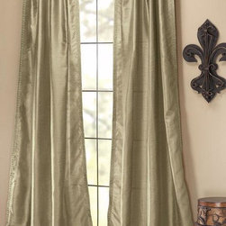 Home Decorators Collection - Neha Drapery Panel - Converting your space into a classically elegant, comfortable domain can be as easy as adding a new window dressing. The Neha Drapery Panel features a silky polyester construction that offers a high, velvety sheen. Combined with a smooth, flowing look, they'll make a distinguished addition to your home decor. Instantly upgrade the look of your window treatments today.Trimmed on both sides. Hidden tabs create a flowing, seamless look.