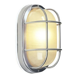 Craftmade - Large Oval Cast Ceiling Mount Outdoor Light i - Bulb Type: A-Type. Max Watt: 1x100W. Glass Finish: Frosted Halophane. Height: 10.6 in.. Width: 6.5 in.. Type of Fixture: Large Flushmount. Extension: 5.75 in.. Top to Outlet: 5.3 in.