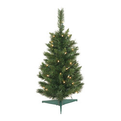 "Vickerman - Imperial Pine Tree 50 Clear 96T (30"") - 30"" Imperial Pine Tree 50 Clear Dura-Lite Lights, 96 PVC tips. Dura-lit Lights utilize microchips in each socket so bulbs stay lit even when some bulbs are broken or missing."