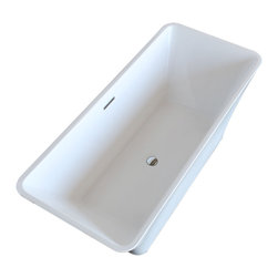 Venzi - Venzi Vida Collection 30 x 67 Rectangle Acrylic Freestanding Bathtub - Allow yourself the pleasure of soaking in a luxuriously designed freestanding bathtub. Ergonomically crafted from high grade acrylic for a rich immersive experience. The light weight, one piece design allows for an easier standard installation process.