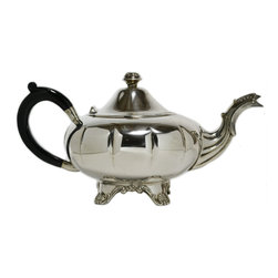 Lavish Shoestring - Consigned Silver Plated Ovoid Shape teapot by Marlboro, Canadian, mid 20th Cen - This is a vintage one-of-a-kind item.