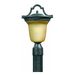 "Triarch International - Triarch International 78205-12 9 1/2"" Single Light Post Light Lion Exte - 9 1/2"" Single Light Post Light from the Lion Exterior Collection"