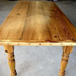Country Style Golden Brown Dining Table
