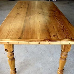 Country Style Golden Brown Dining Table - Made by www.ecustomfinishes.com