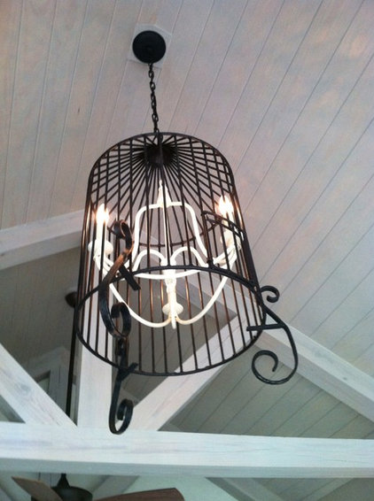 Salvage Project of the Week: Birdcage Chandelier Lights Up a Porch