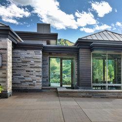 Aluminum Clad Windows and Doors - Luxury mountain home features aluminum clad windows and doors throughout.   Photo credit Mike Hefron.