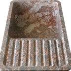 "Hand Carved Marble Farm House 40"" Single Bowl Kitchen Sink w/Drain Board - Hand Carved Marble Farm House 40"" Single Bowl Kitchen Sink w/Drain Board"