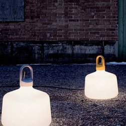 """Bottle Outdoor Light - The Bottle outdoor light by Zero was designed by Mattias Stahlbom in 2009.  This contemporary light is availalble as a pendant light or a floor lamp. The Bottle outdoor light has a shade in a matt opal acrylic glass with a yellow, aluminium, or white painted die cast aluminium top.  The Bottle pendant has that industrial look that works well in most contemporary spaces.  The pendant light comes with 1.8 meters of wire and the floor lamp has 5 meters of cable.  IP44 Rated   Product description: The Bottle outdoor light by Zero was designed by Mattias Stahlbom in 2009.  This contemporary light is availalble as a pendant light or a floor lamp. The Bottle outdoor light has a shade in a matt opal acrylic glass with a yellow, aluminium, or white painted die cast aluminium top.  The Bottle pendant has that industrial look that works well in most contemporary spaces.  The pendant light comes with 1.8 meters of wire and the floor lamp has 5 meters of cable.  IP44 Rated      Details:                         Manufacturer:                        Zero                                                 Designer:                        Mattias Stahlborn                                         Made in:                        Sweden                                         Dimensions:                        Height: 19"""" (48.5 cm) X Width: 15.7"""" (40 cm) X Overall Height: 70.8"""" (180 cm)                                         Light bulb::                        1 X 60W E27                                         Material:                                                                                                            Aluminum, acrylic glass"""