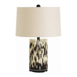 Arteriors Home - Arteriors Home Esparto Lamp - Arteriors Home 49001-331 - Arteriors Home 49001-331 - Who knew that porcupine quills were so pretty! Especially when arranged in a cylinder and hand-knotted together. The linen drum shade in lined in cotton. These quills are made from resin so no animals were harmed.