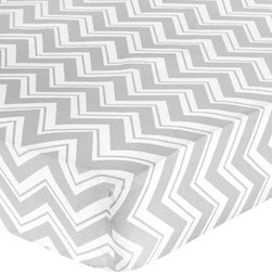 Sweet Jojo Designs - Zig Zag Turquoise and Gray Crib and Toddler Sheet by Sweet Jojo Designs - The Zig Zag Turquoise and Gray zig zag print Crib and Toddler Sheet by Sweet Jojo Designs, along with the bedding accessories.