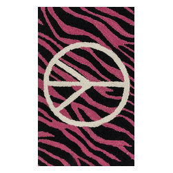 "Loloi Rugs - Loloi Rugs Skylar Collection - Pink / Ivory, 2'-3"" x 3'-9"" - Make a big statement in small spaces with the Skylar Collection. Hooked in India of 100% wool, the designs bring colorful, bold attitude perfect for entry ways, bathrooms, and kid's rooms.�"