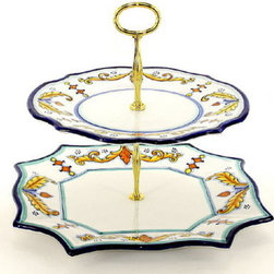 Artistica - Hand Made in Italy - PRINCIPE: Two-Tier Tid-Bit Tray - Artistica's EXCLUSIVE!
